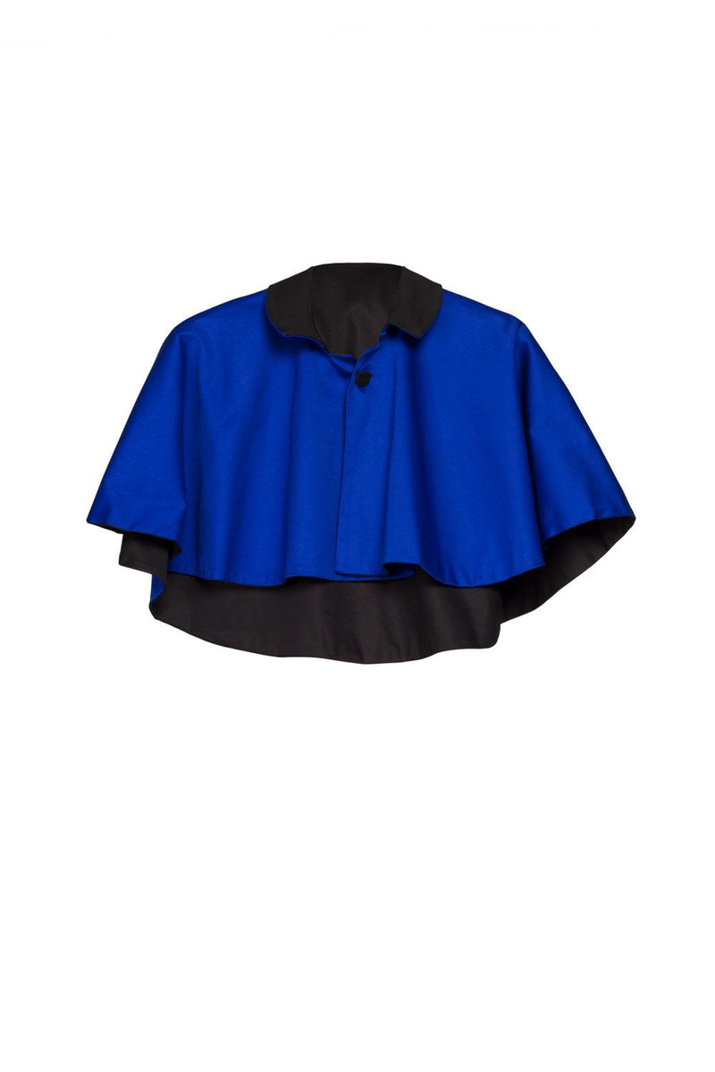 Magically Made for Couture for Every Body Celestina Reversible Capelet in Black and Blue