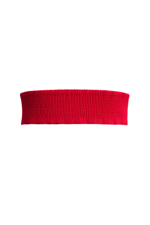 Lock It In Vintage Inspired Stretch Belt in Ruby Red