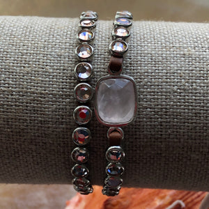 Rose Quartz wrap bracelet