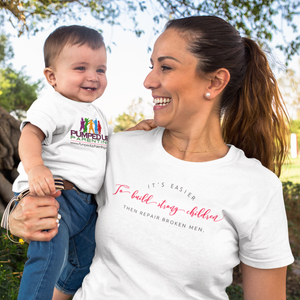 """Build Strong Children"" Women's Tee Shirt"