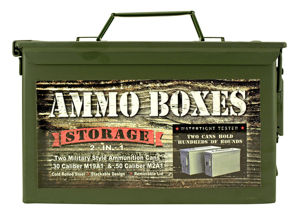 2 in 1 Military Style Ammo Boxes
