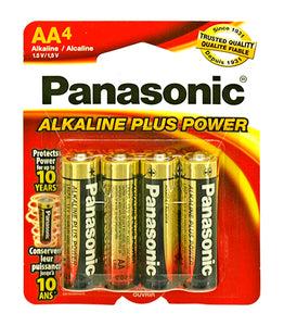 4 - pc. Panasonic AA Alkaline Battery Pack