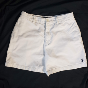 Ralph Lauren White Mom Shorts Vintage High Rise 27