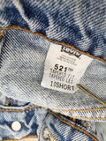 Levis 521 Vintage High Rise Tapered Jeans Size 28
