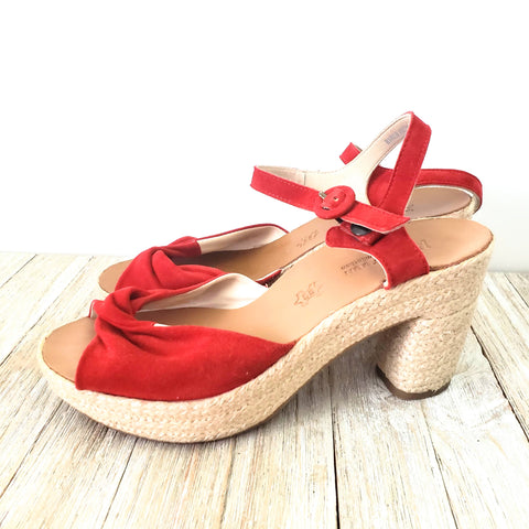 Paul Green Harper Red Sandals Size 8.5
