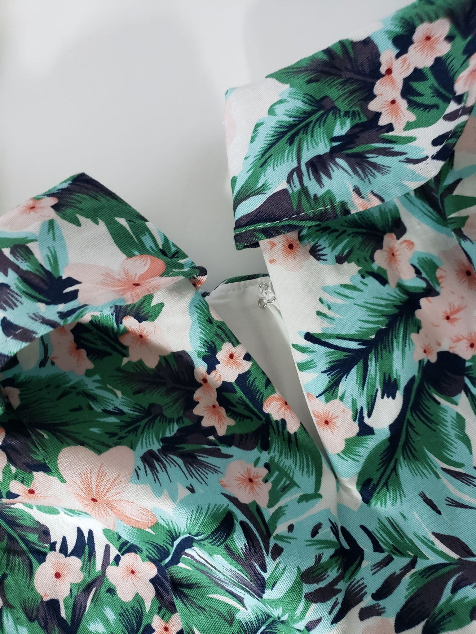 Superdown Kiana Mini Dress Tropical Palm Floral Print Size XXS