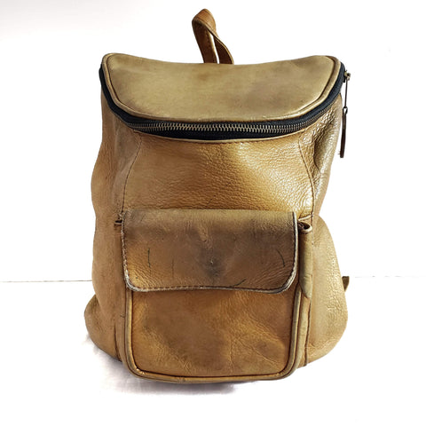 Vintage Frye Backpack Leather Book Bag