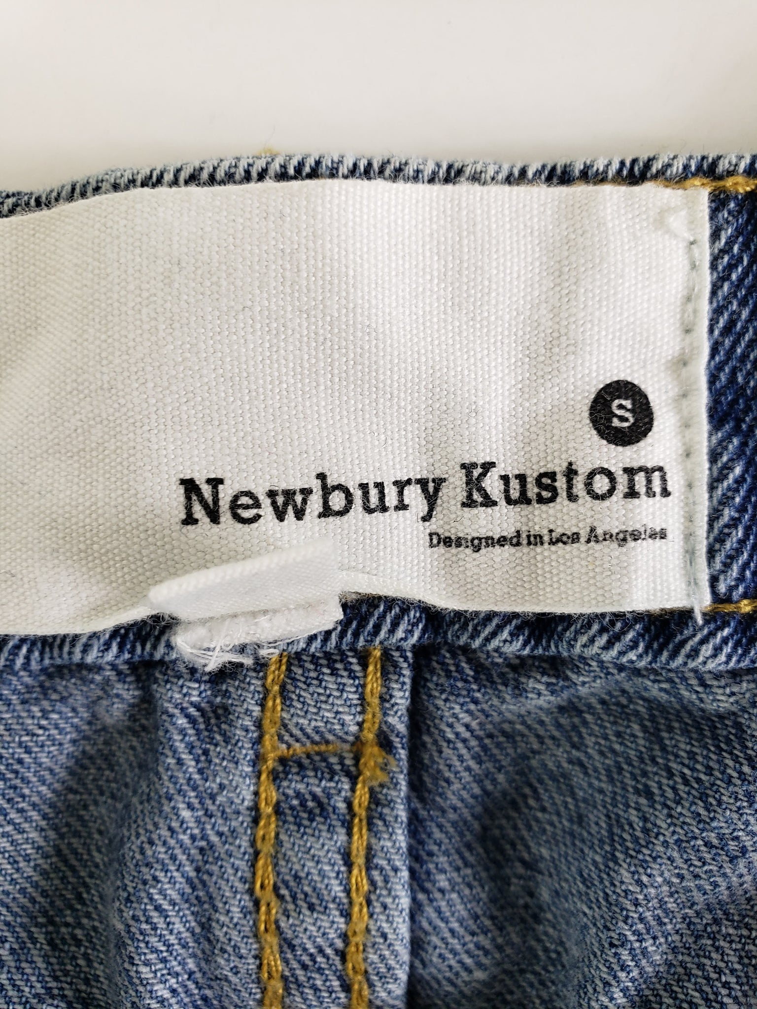 Newbury Kustom Button Front Jean Skirt Size Small