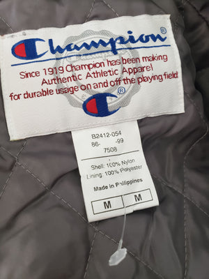 Champion Stadium Jacket Windbreaker Mens Full Zip Hooded Size Medium