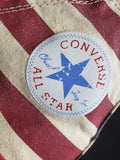 Converse High Top Sneakers Rummage Flag Chuck Taylor Shoes Unixes Size 8.5 Womens 7 Men