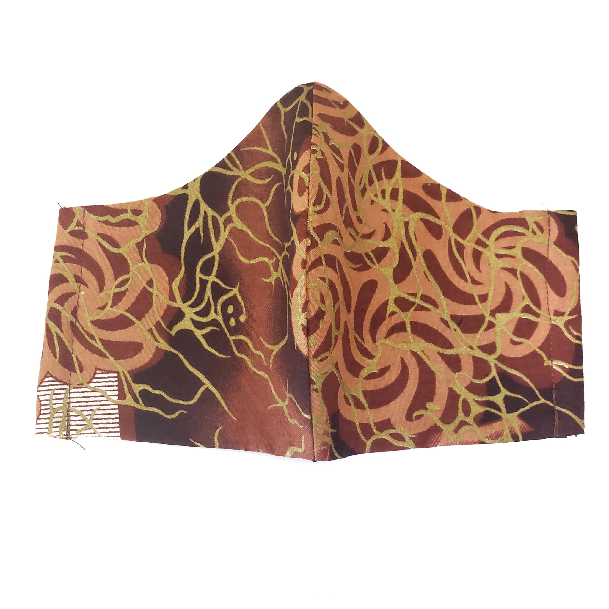 Cloth Face Mask Ankara African Print Batik Fabric 3 Layer