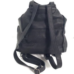 Cut N Paste Leather Backpack Drawstring Bucket Bag Purse