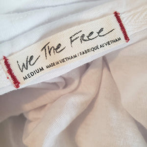 Free People All You Need White Tee Top Size Medium