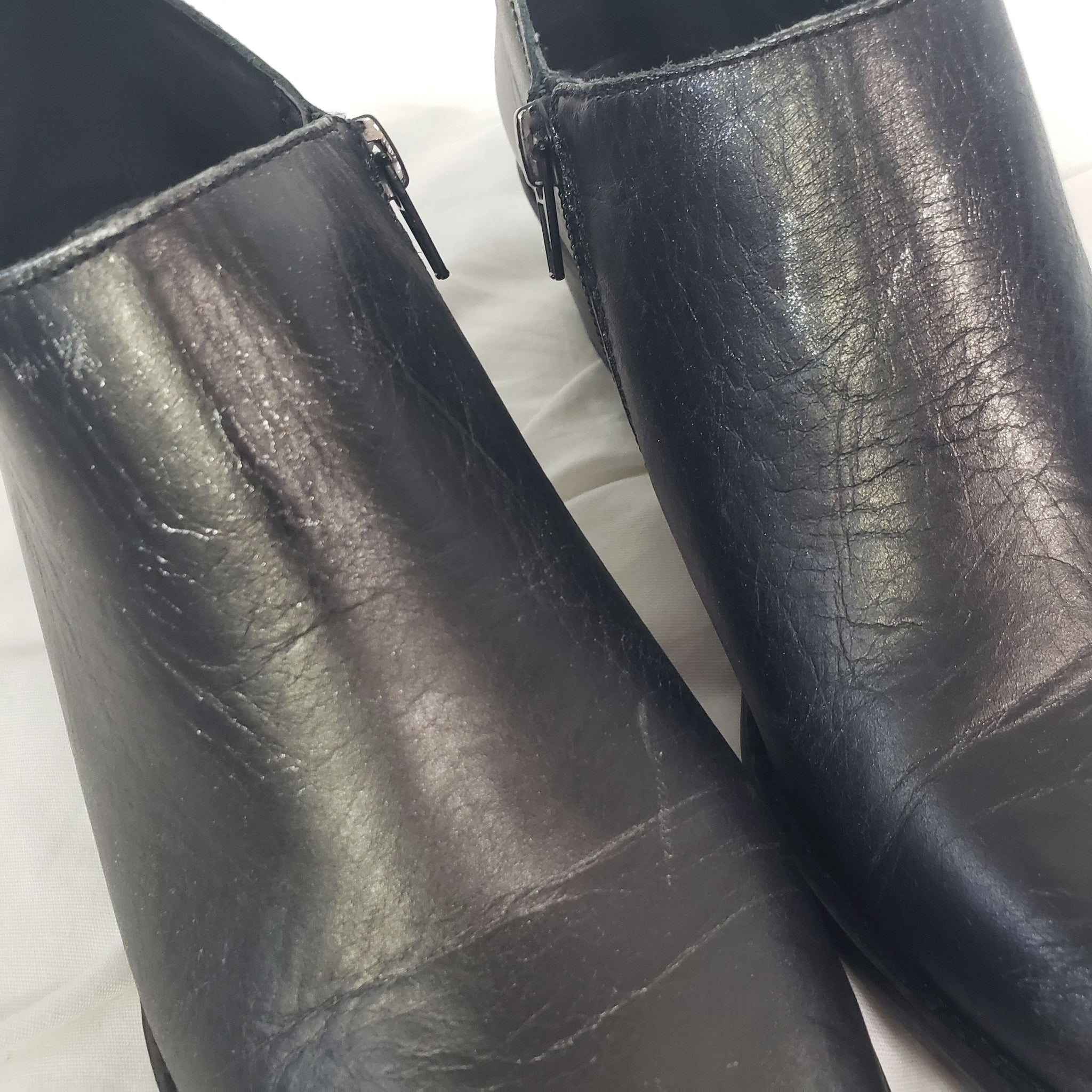 Lucky Brand Ferryn Booties Black Silver Size 8.5 Ankle Boots Shoes