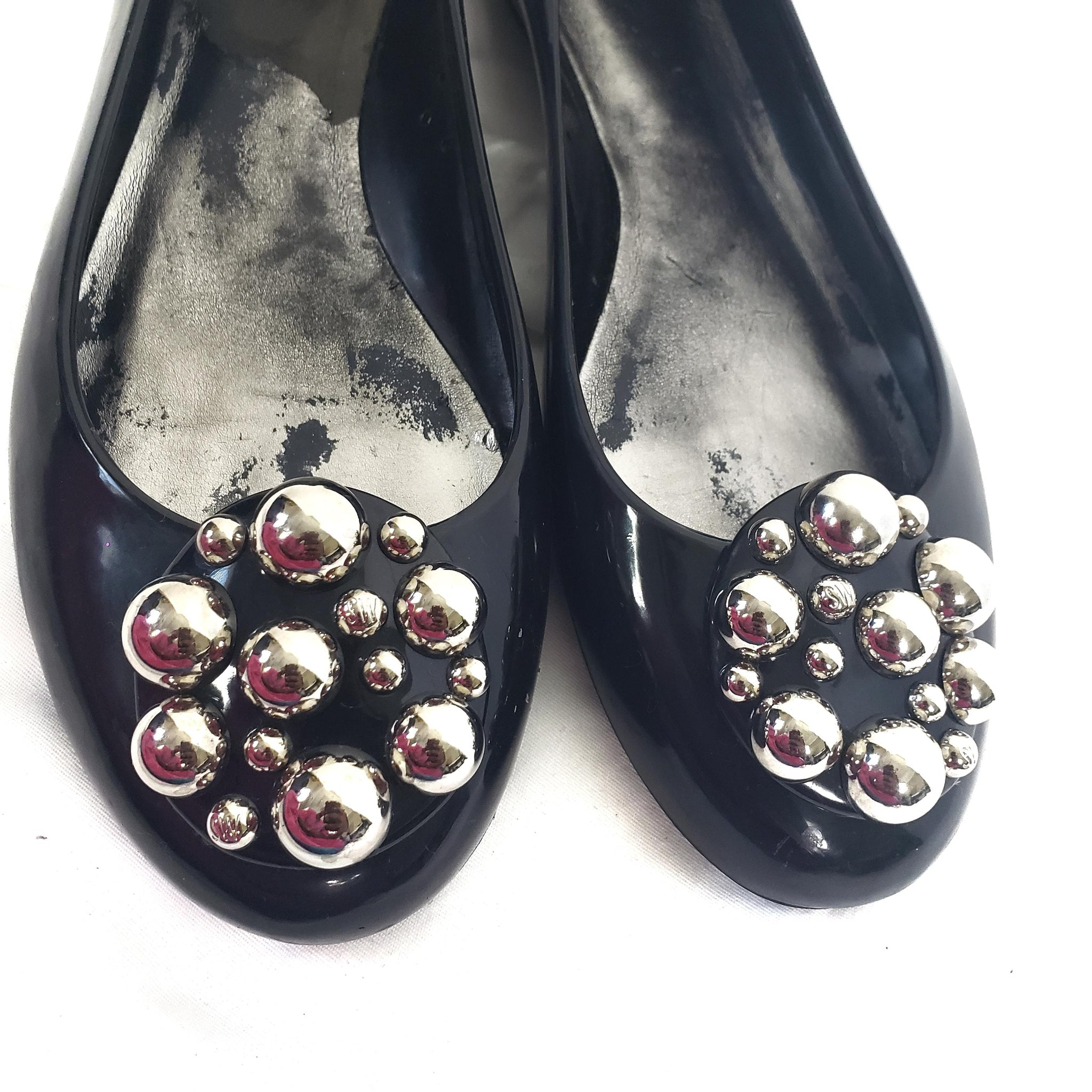 Stuart Weitzman Jelly Flats Pellets Slip On Size 9