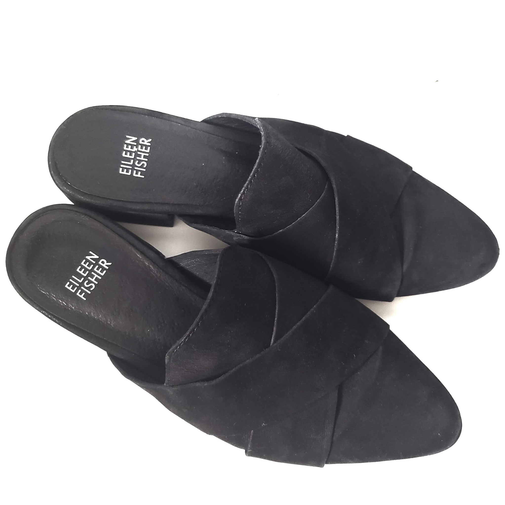 Eileen Fisher Black Mules Flats Loafers Size 7