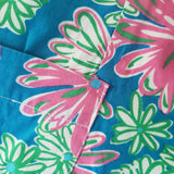 Lilly Pulitzer Classic Floral Shift Dress Vintage 90s Size 4