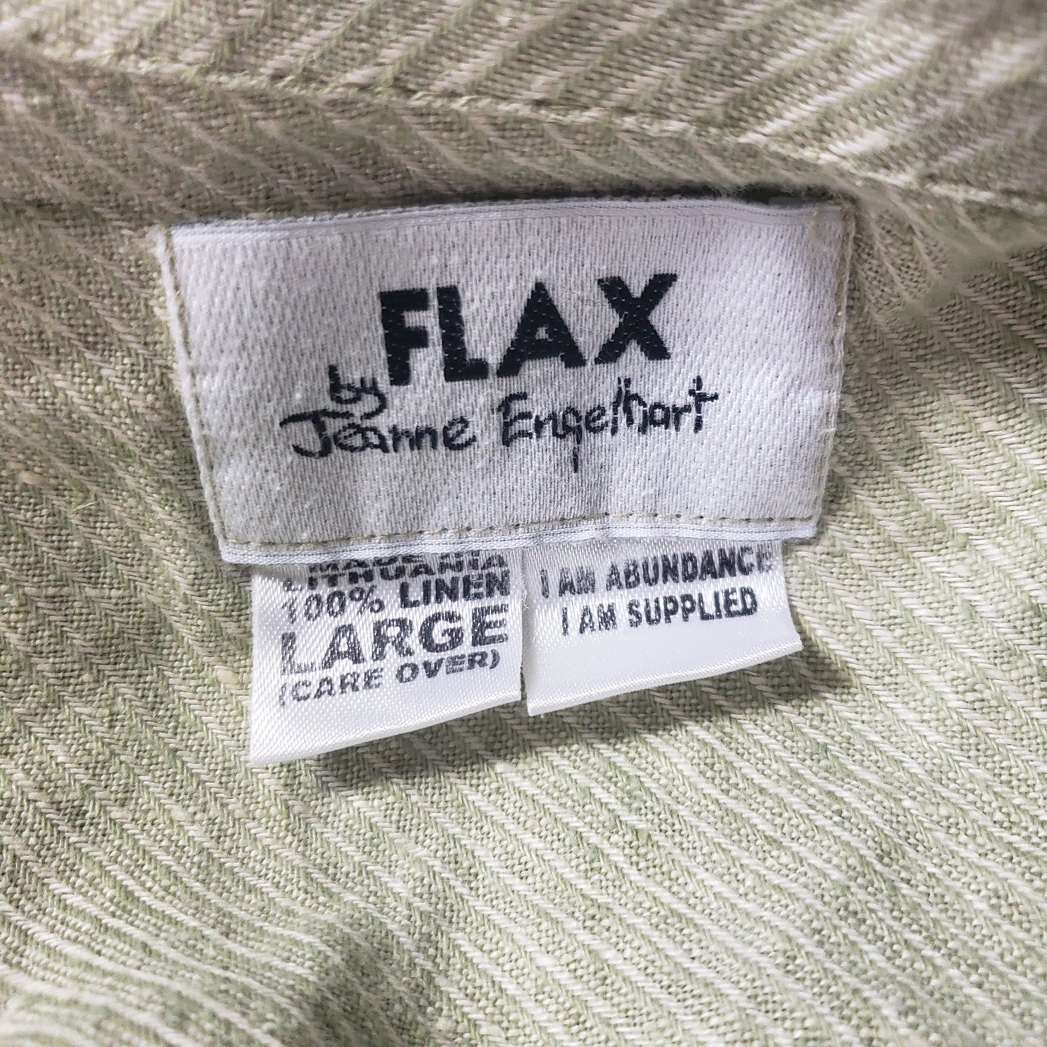 Flax Lagenlook Linen Wrap Top Size Large