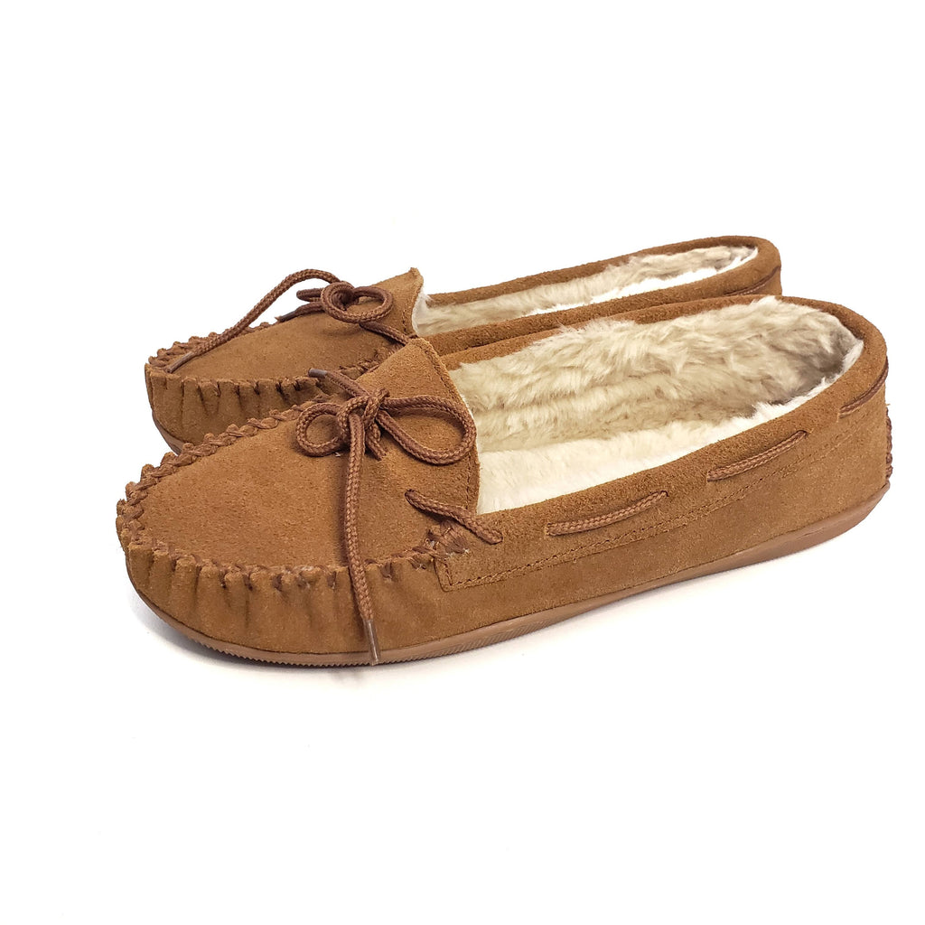 Clarks Fur Lined Moccasin Slippers Size 8
