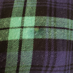 Vintage Saybury Plaid Flannel Nightgown Size 1X