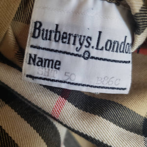 Vintage Burberry Trench Coat Size Medium Mens