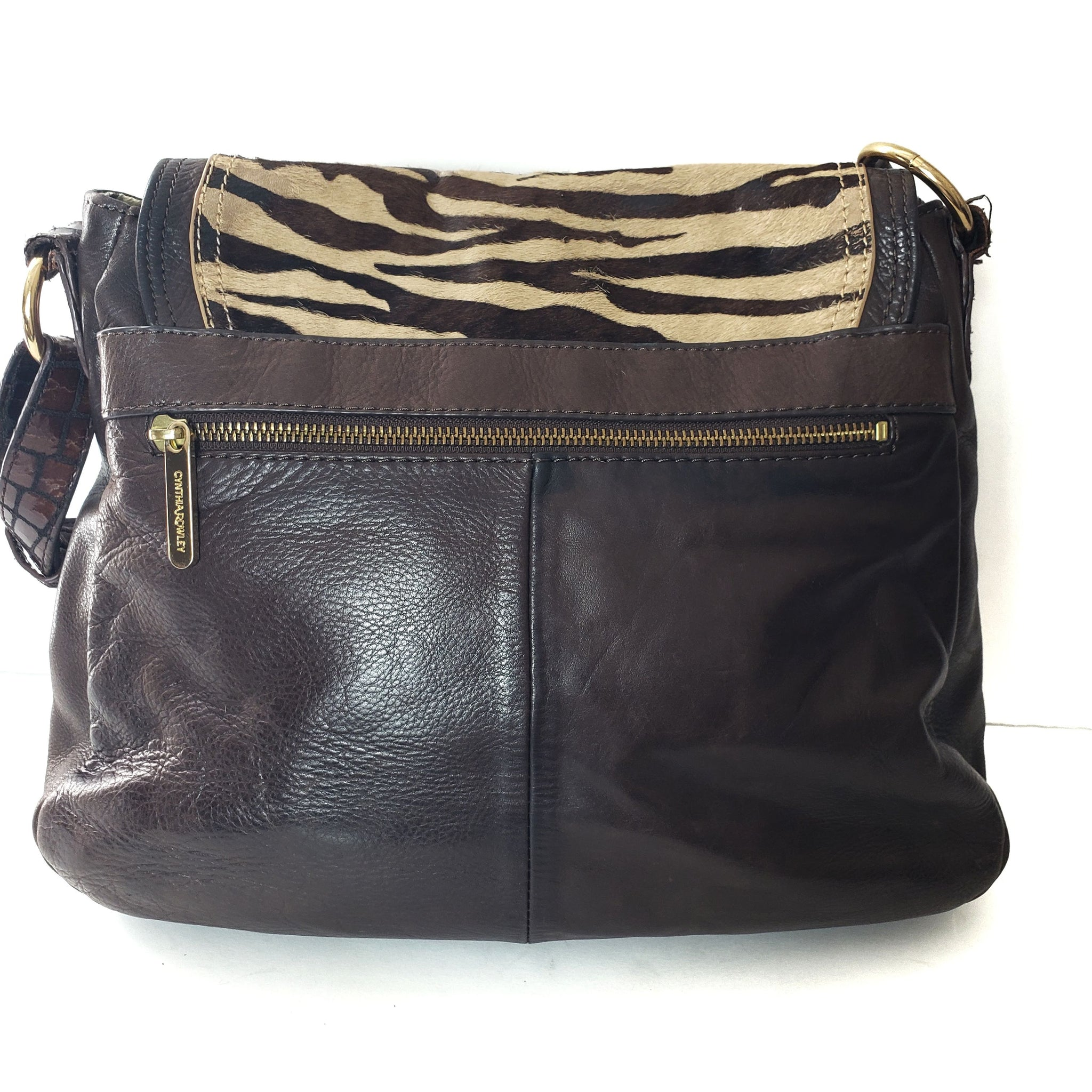 Cynthia Rowley Ponyhair Leather Shoulder Bag