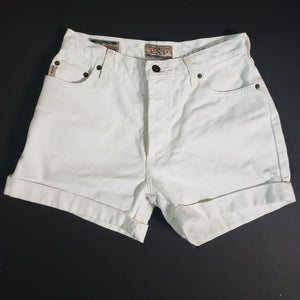 Vintage Express Button Fly Jean Shorts Size 6