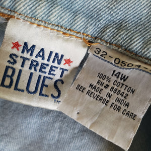 Vintage Main Street Blues Jean Jacket Size 14W
