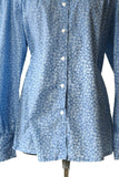 Frontier Classics Blouse Pioneer Prairie Western Victorian Print Shirt Size XL