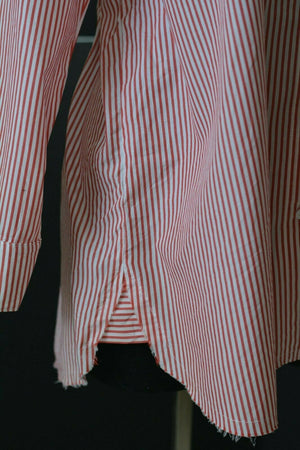 Stateside Oxford Shirt Oversized Anthropologie Button Down Red Stripe Size Small