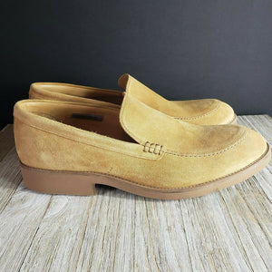 Vince Camuto Arleigh Loafers Tobacco Brown Suede Leather Shoes Size 12 12.5 Mens