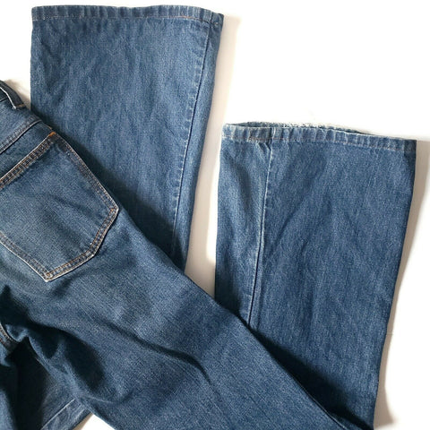 Farah Vintage 70s Jeans Bell Bottoms Made in USA Size  25 26 x 30 Unisex