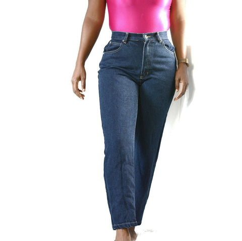 Vintage Liz Claiborne Mom Jeans High Waist Blue Denim Lizwear Tapered Size 26