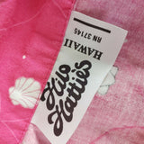 Hilo Hattie Hawaiian Shirt Button Down Pink Seashells Size Small Womens