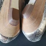 Matt Bernson Wedge Heels Casual Ballet Low Wedges Leather Size 9.5 Womens