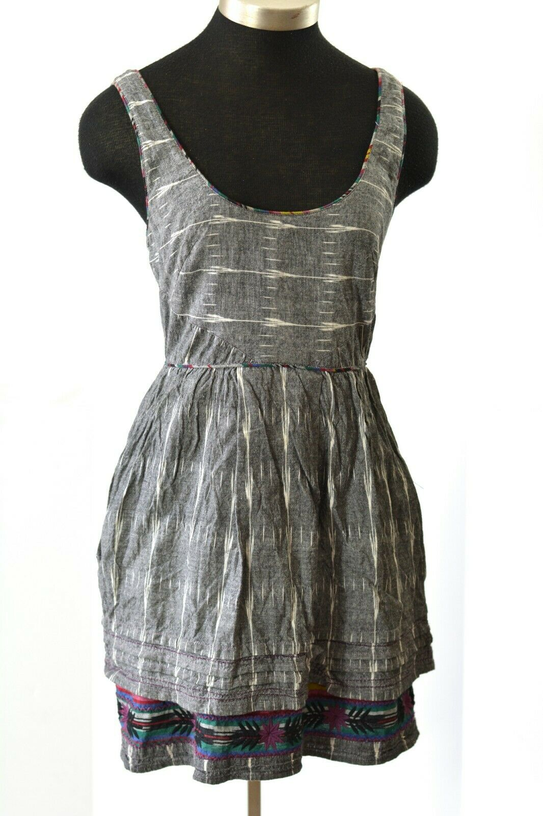 Free People Dress New Romantics Weather Vane Ikat Sundress Size 4 Small