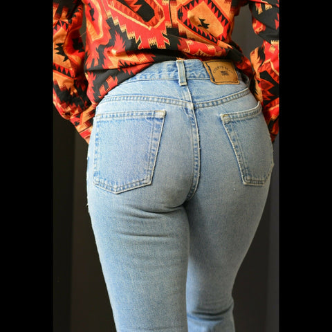 Vintage County Seat Jeans Bootcut High Waist Light Wash 90s y2k Size 26 27 28