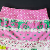 Lilly Pulitzer Patch of Paradise Skirt Sea Reef Pink Green White Label Size 4