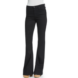 AG Adriano Goldschmied Jeans The Janis High Rise Flare Black Bell Bottom Size 24