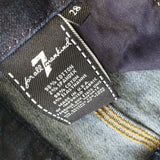7 For All Mankind High Rise Vintage Straight Jeans Dark Button Fly Size 28 x 30