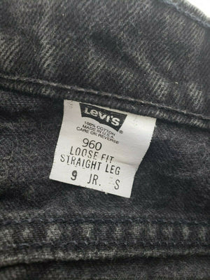 Levis 960 Jeans Vintage Black High Rise Orange Tab Straight USA Size 9 Waist 30
