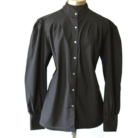Frontier Classics Black Blouse Pioneer Prairie Western Victorian Shirt Size XL