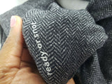 LULULEMON Think Fast Pullover Top Ready or Snot Black Gray Herringbone Size 4