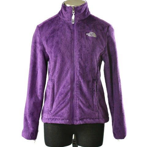 North Face Osito Jacket Purple Fleece Full Zip Womens Size Small