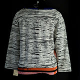 Aldomartins Pullover Top Cap Juluca Black White Space Dye Sweater Tee Size 6