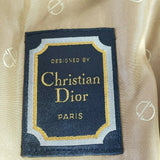 Vintage Christian Dior Paris Trench Coat Mens Double Breasted Tan Khaki Size 40L