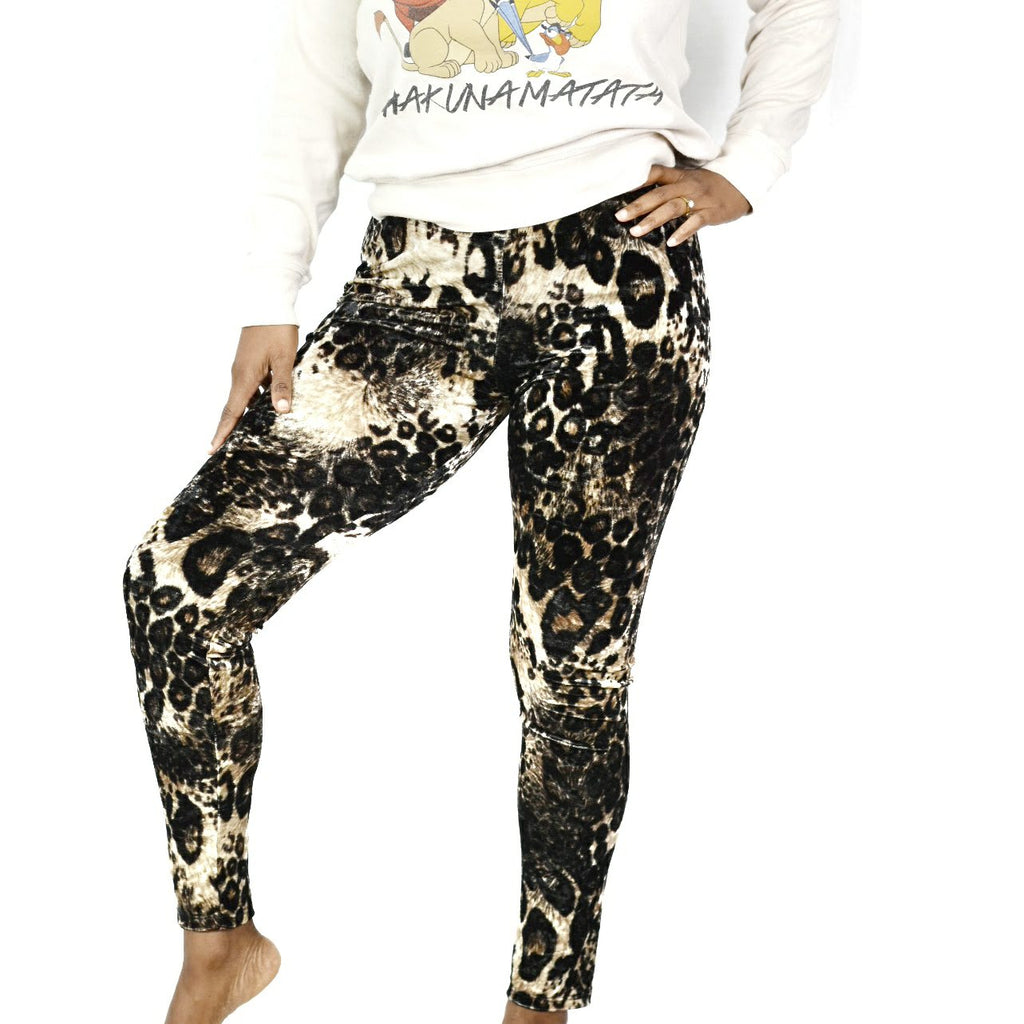 Milkyway Velvet Leopard Leggings Size Large