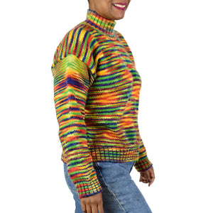 Vintage Rainbow Stripe Sweater Size Medium