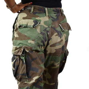 Vintage Cargo Camouflage Joggers Pants Size Small