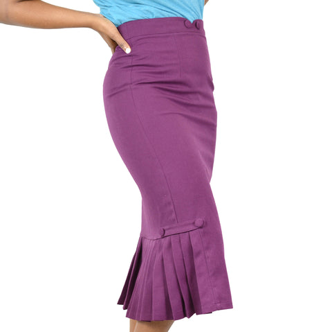 Voodoo Vixen Pencil Skirt Violetta Size Small